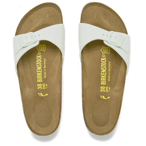c3cab494cb16 Birkenstock Women s Madrid Slim Fit Single Strap Sandals - Mint  Image 2