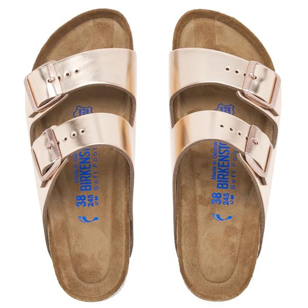 984b4fb0ed1 Birkenstock Women s Arizona Leather Slim Fit Double Strap Sandals -  Metallic Copper  Image 3