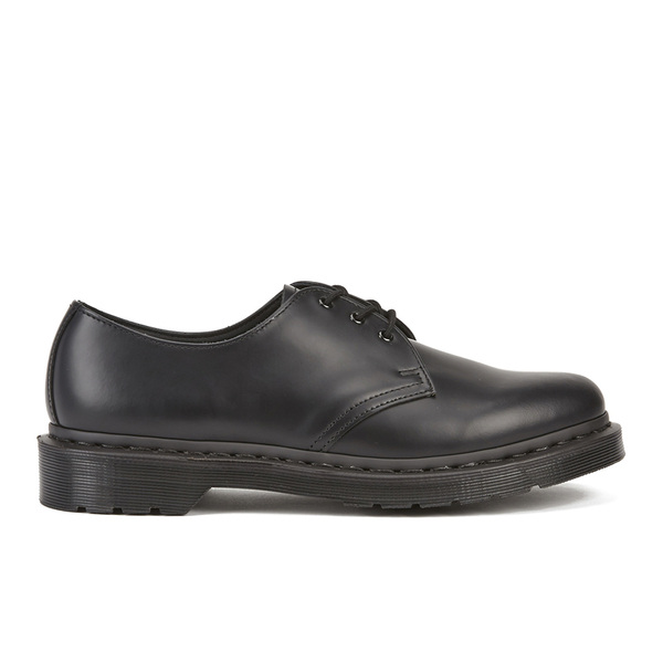 Dr. Martens Women's 1461 Mono Smooth Leather 3-Eye Shoes - Black: Image