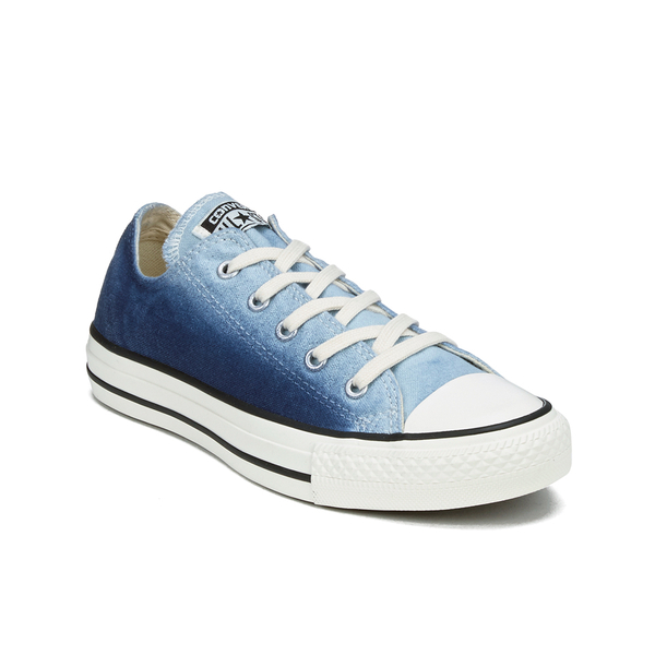 1e194d593058 Converse Women s Chuck Taylor All Star Sunset Wash Ox Trainers - Ambient  Blue Egret