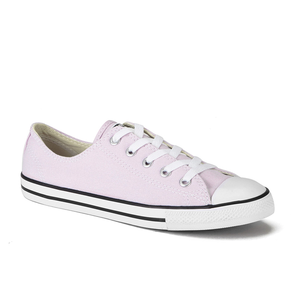 6b3d2f44775 Converse Women s Chuck Taylor All Star Dainty Ox Trainers - Purple Dusk  Black White