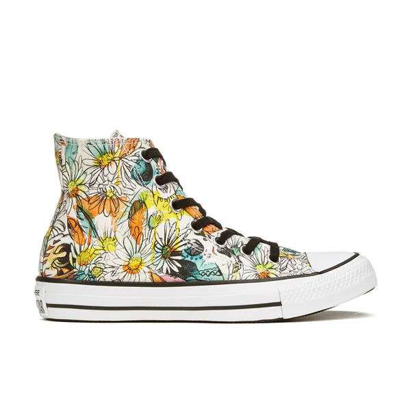 b38459d0d9ee Converse Women s Chuck Taylor All Star Daisy Print Hi-Top Trainers - Black  Rebel