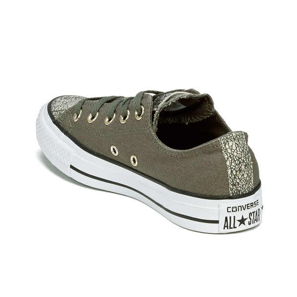 5f7ac46de050 Converse Women s Chuck Taylor All Star Oil Slick Toe Cap Ox Trainers -  Charcoal Egret
