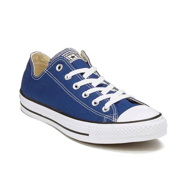 f1b81819dd36 ... get converse unisex chuck taylor all star ox trainers roadtrip blue  white black 01812 6a8ba ...