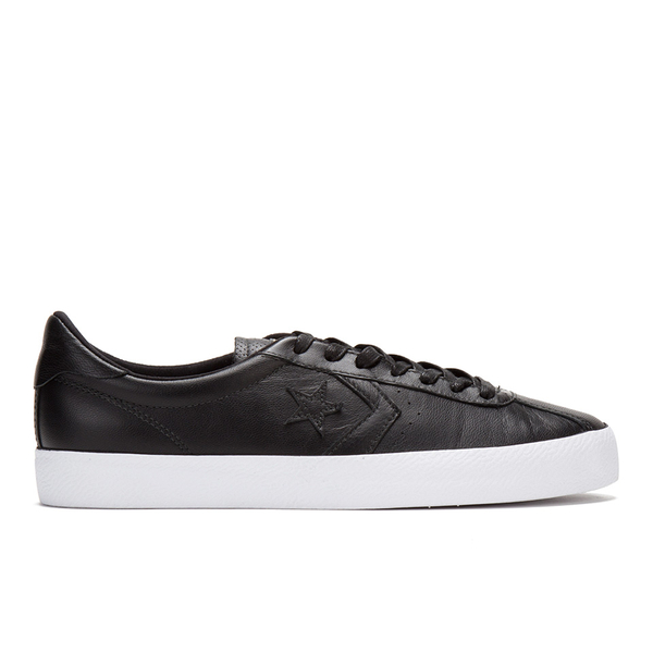 a4d7b202a1f Converse Men s CONS Breakpoint Premium Leather Trainers - Black Gold  Image  1
