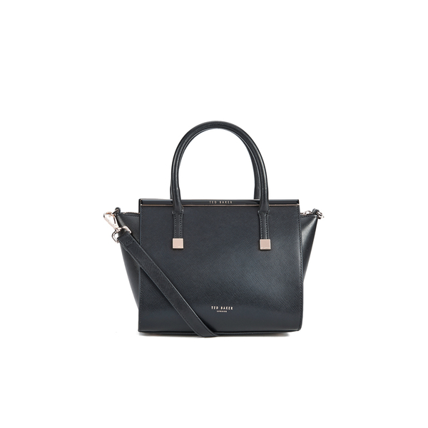 7953a7ff1 Ted Baker Women s Tabatha Crosshatch Leather Shoulder Bag - Black  Image 1