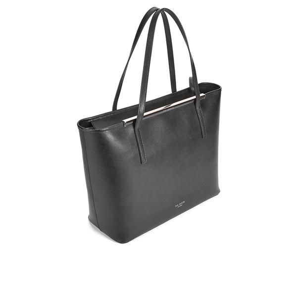 af709940e Ted Baker Women s Celiaa Pop Clutch Large Crosshatch Shopper Bag - Black   Image 2