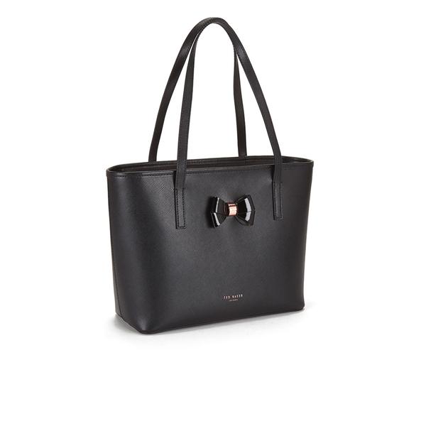 35fda2c2a2 Ted Baker Women's Ritaa Bow Detail Crosshatch Small Shopper Bag - Black:  Image 2