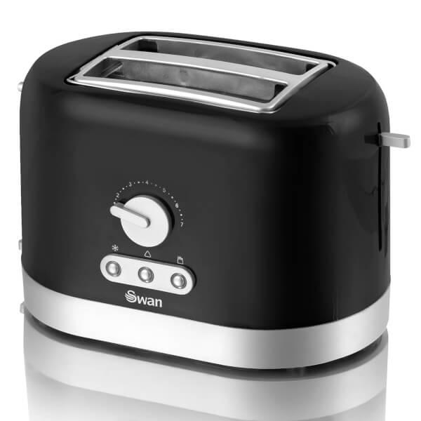 Swan ST10020BLKN 2 Slice Toaster - Black