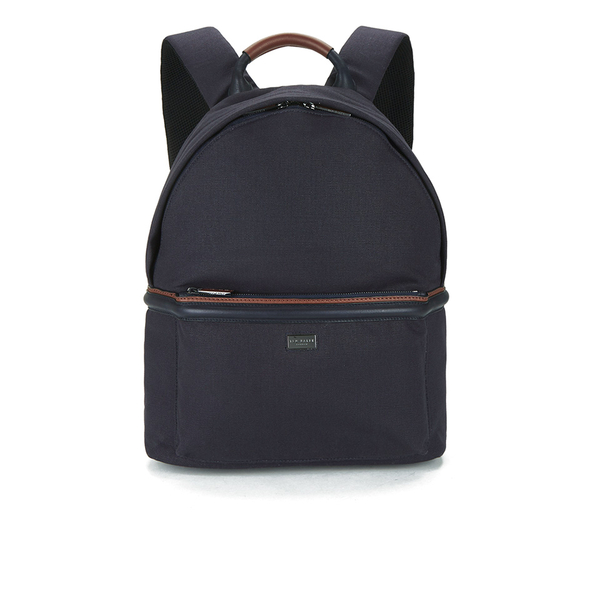 45a226eb8f27f Ted Baker Men s Brandor Canvas and Leather Backpack - Navy  Image 1