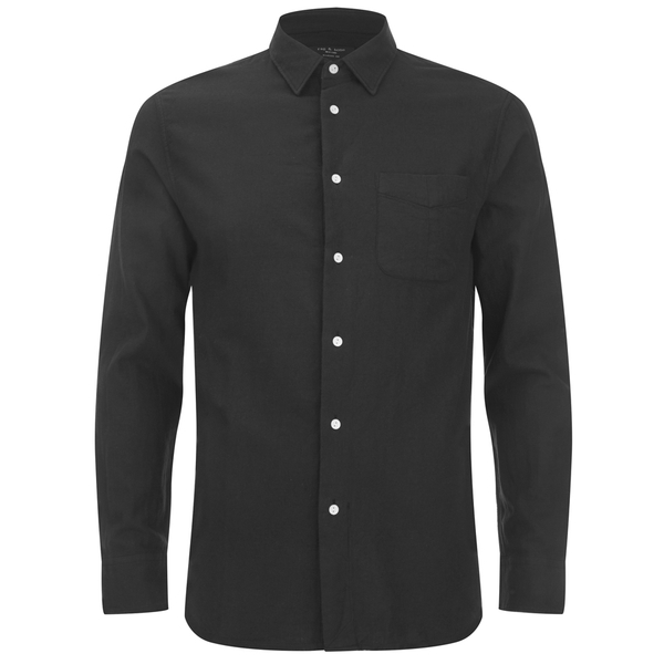 rag & bone Men's Beach Shirt - Black/White