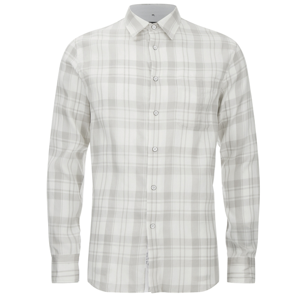 rag & bone Men's Beach Shirt - White/Grey