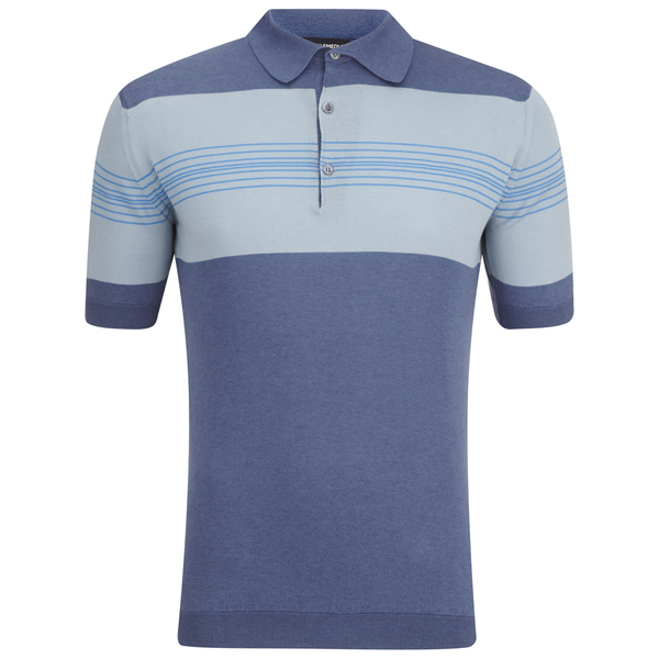 John Smedley Men's Easdale Sea Island Cotton Polo Shirt - Baltic Blue