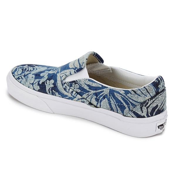 59e37a42a2 Vans Unisex Classic Slip-on Indigo Tropical Trainers - Blue True White   Image