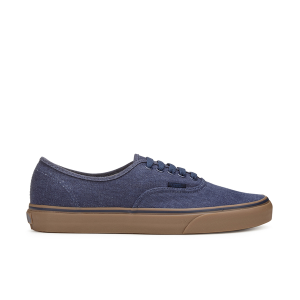 Vans Men's Authentic Washed Canvas Trainers - Dress Blues/Gum