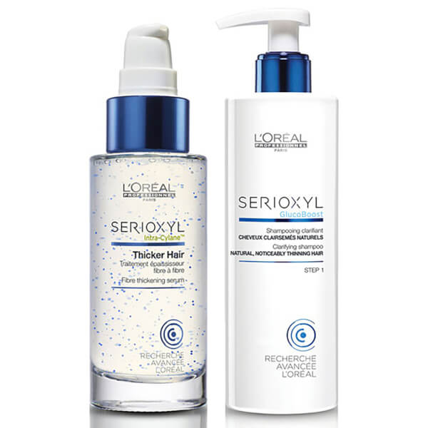 L'Oréal Professionnel Serioxyl Thicker Hair Treatment and Shampoo for Natural Thinning Hair