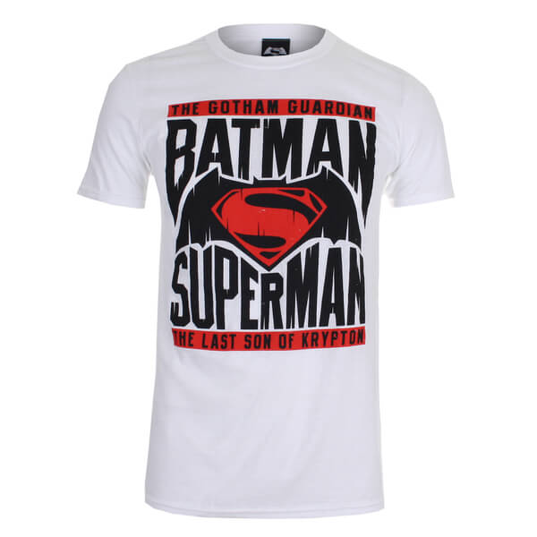 DC Comics Men's Batman v Superman Gotham Guardian T-Shirt - White