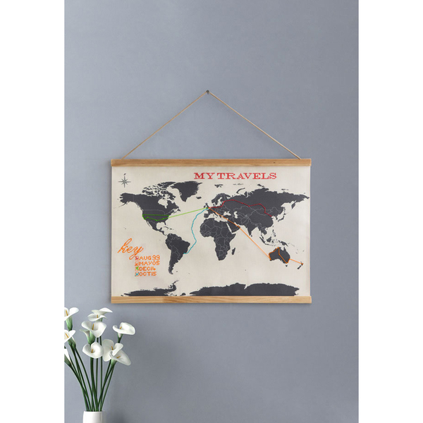 The Hut Group Thg: Cross Stitch Map Traditional Gifts