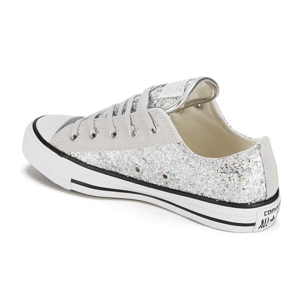 Converse Women S Chuck Taylor Textile Glitter Ox Trainers