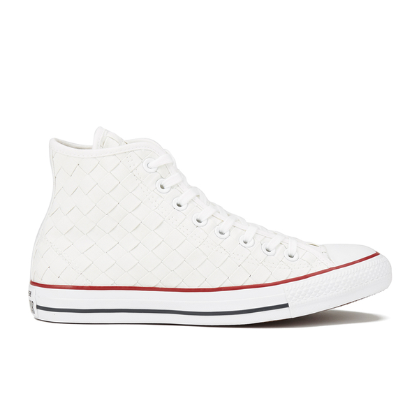 ef0fb80896a1 Converse Men s Chuck Taylor All Star Woven Canvas Hi-Top Trainers -  White Red