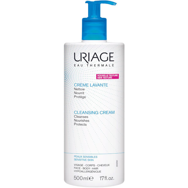Uriage Soap Free Cleansing Cream for Face, Body and Scalp (500 ml)