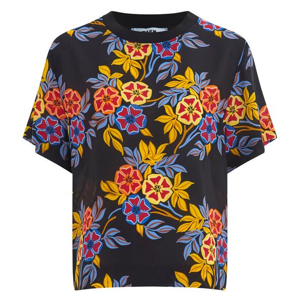 MSGM Women's Floral Top - Multi