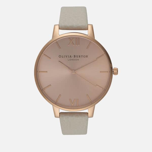 Olivia Burton Women's Big Dial Watch - Mink/Rose Gold