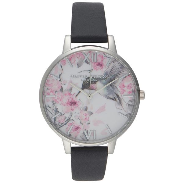 Olivia Burton Women's Painterly Prints Hummingbird Watch - Grey/Silver