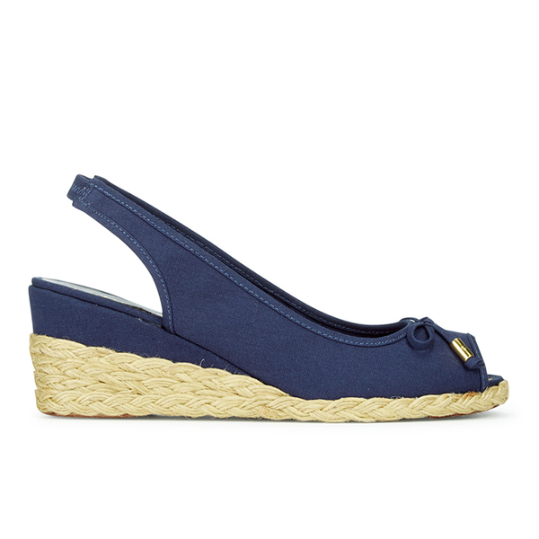 Lauren Ralph Lauren Women's Camille Canvas Wedged Espadrilles - Sailing Navy
