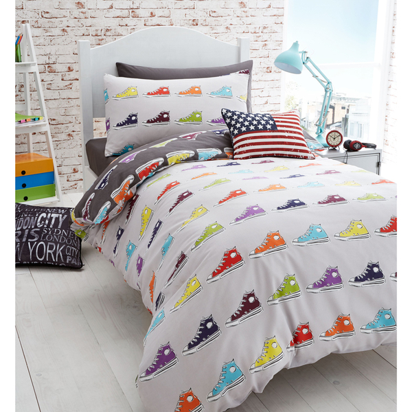 Catherine Lansfield Sneakers Bedding Set - Multi