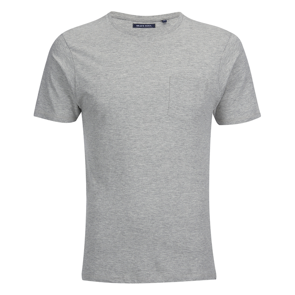 T-Shirt Homme Brave Soul Arkham - Gris Chiné
