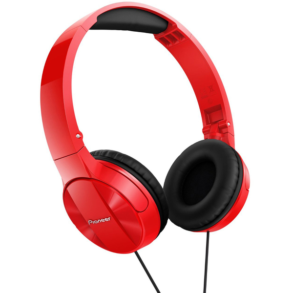 Pioneer SE-MJ503 Foldable DJ Style Headphones - Red