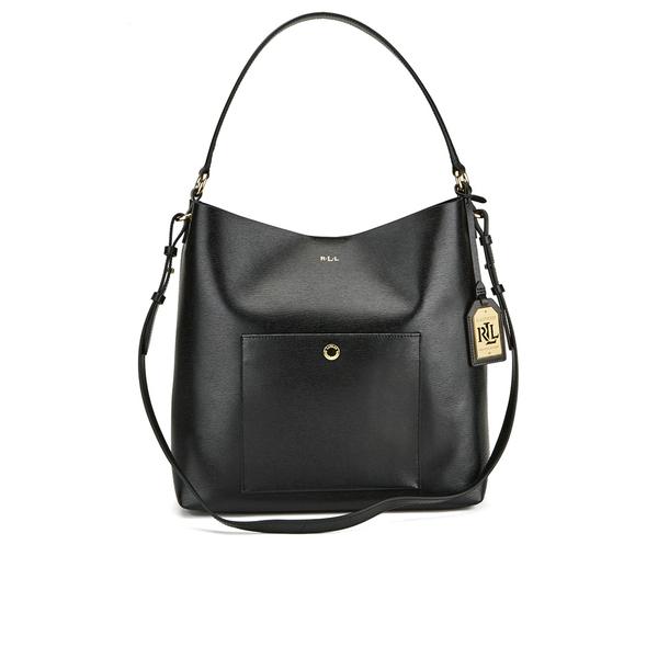 Lauren Ralph Lauren Women s Pocket Hobo Bag - Black  Image 1 2c06c31343dd0