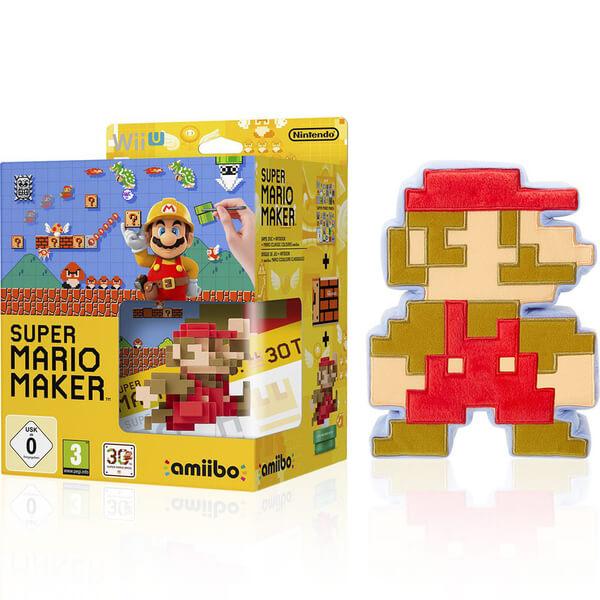 Squishy Super Mario Maker 1 : Super Mario Maker + Mario Classic Colours amiibo + 8-Bit Mario Soft Toy Nintendo UK Store
