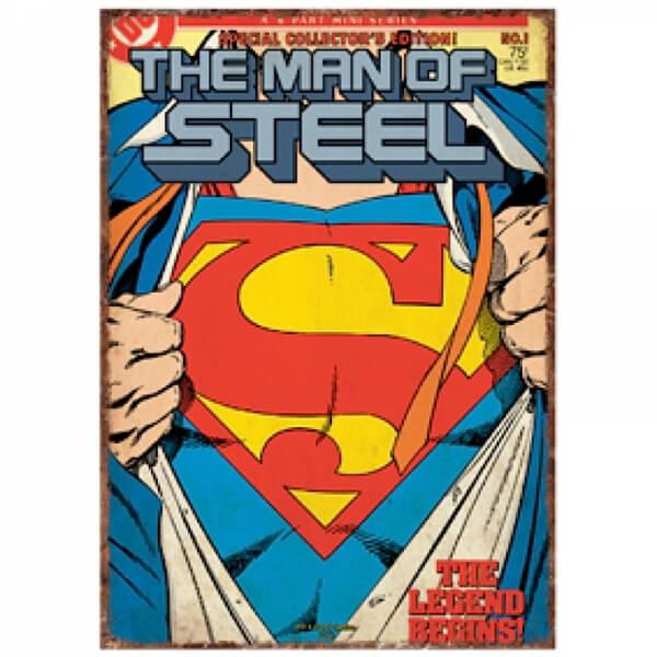 Affiche Métallique DC Comics Superman
