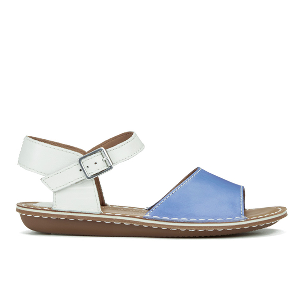 655fd9b87 Clarks Women s Tustin Sinitta Leather Double Strap Sandals - Blue Combi   Image 1
