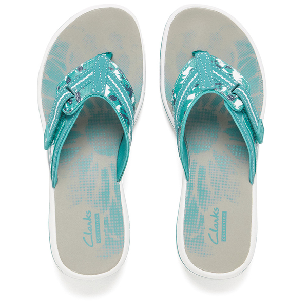 Clarks Women S Brinkley Jazz Toe Post Sandals Teal