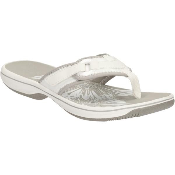 10b2d7577ac32e Clarks Women s Brinkley Mila Toe Post Sandals - White Womens ...