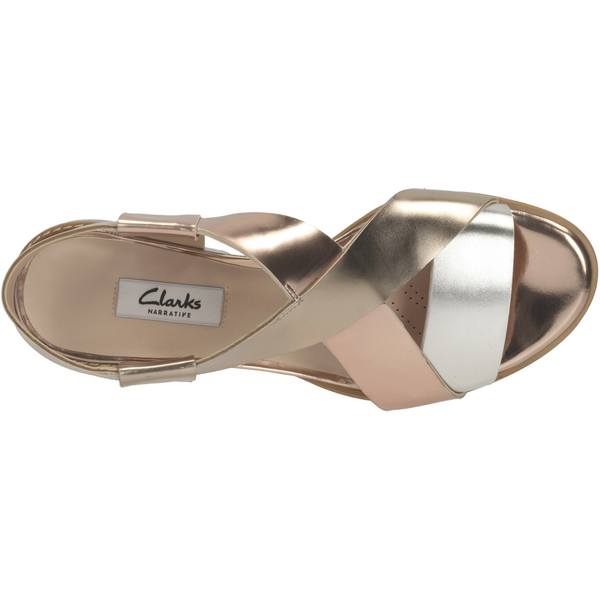 210391d9e20be5 Clarks Women s Bliss Meadow Gladiator Sandals - Metallic Combi  Image 3