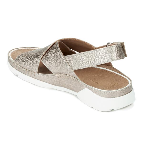 ff8e3aa84d4d Clarks Women s Tri Alexia Cross Front Leather Sandals - Gold  Image 6