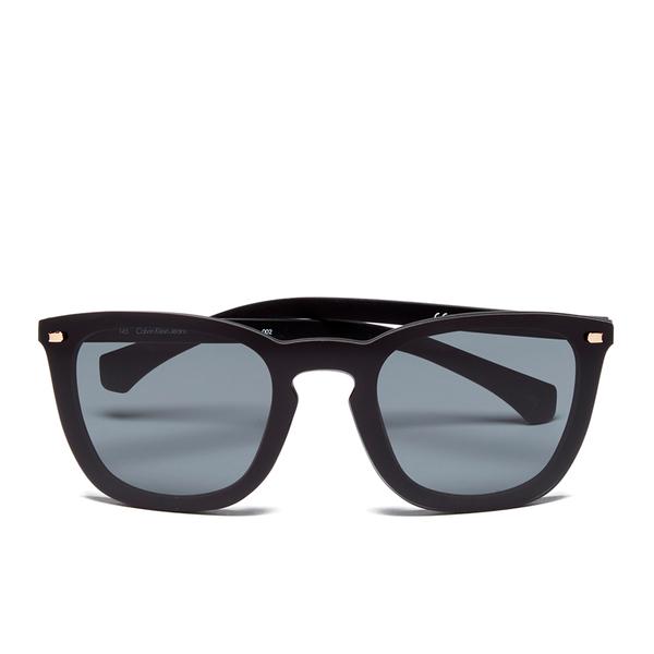 577b10b9518 Calvin Klein Jeans Unisex Oversized Sunglasses - Black  Image 1
