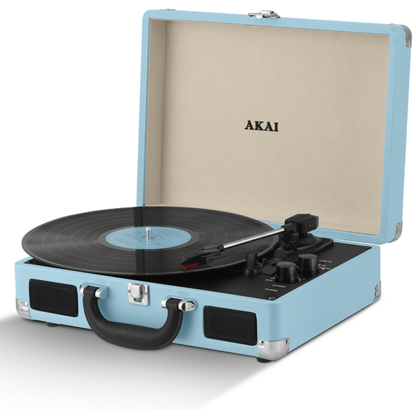 Akai Rechargeable Portable Briefcase Turntable With Built