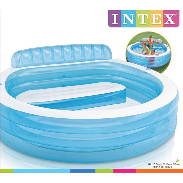 Intex swim center family lounge large paddling pool iwoot for Large paddling pool