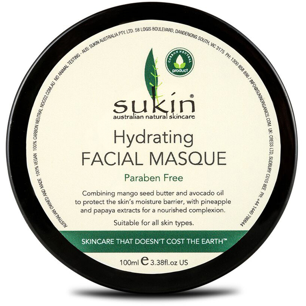 Masque purifiant Visage de Sukin100ml