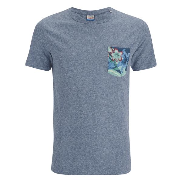 Jack & Jones Herren Originals Bobby Pocket Print T-Shirt - Blau