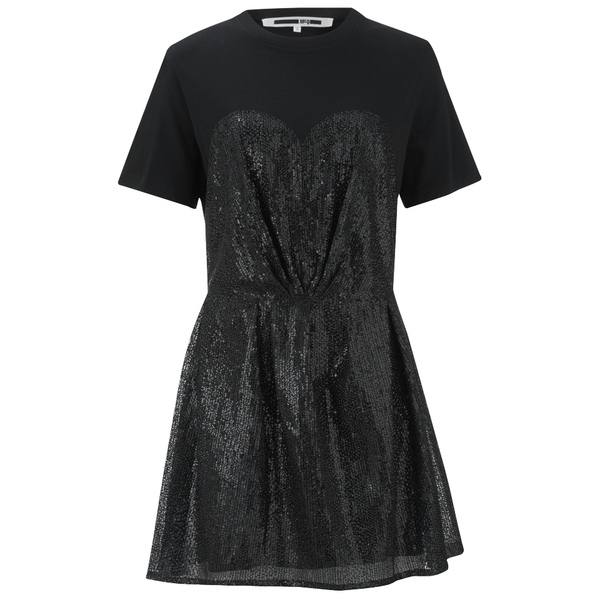 McQ Alexander McQueen Women's Bustier T-Shirt Dress - Black