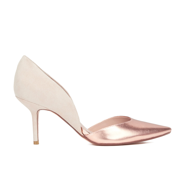 Dune Women's Cindee Leather Court Shoes - Rose Gold