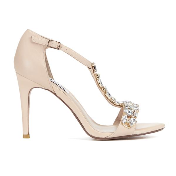 Dune Womens Shoes Sandals Ankle Strap High Heels Leather Black Uk 8 EU 41