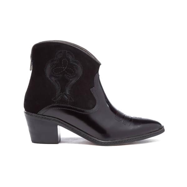 H Shoes by Hudson Women's Leon Hi Shine Western Boots - Black