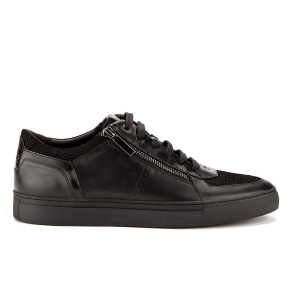 HUGO Men's Futurism Leather Low Top Trainers - Black